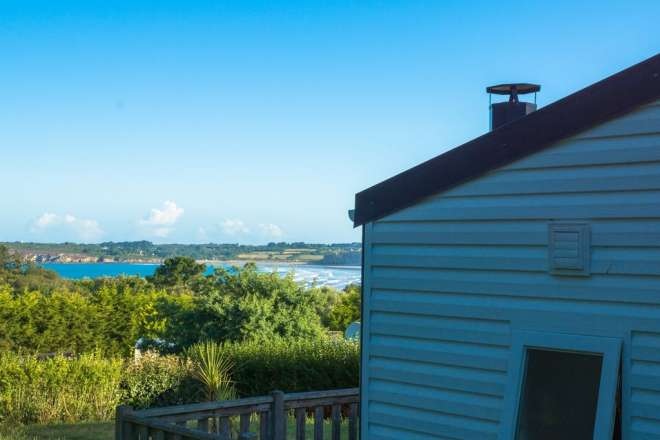 Sea view from the mobile home -