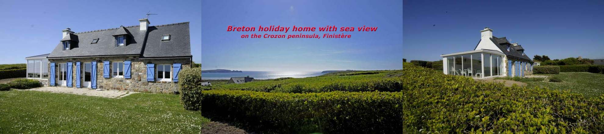 Brittany Holiday-home with sea view: Cottage Gérard Kersiguenou on the Crozon peninsula