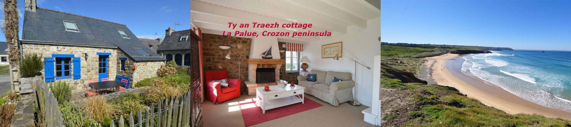 Brittany holiday home: Ty an Traezh cottage, near the la Palue beach