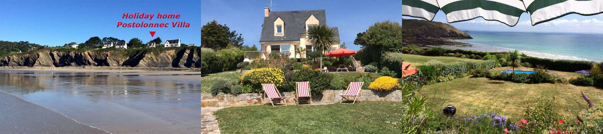 Brittany Holiday-home: Postolonnec Villa on the Crozon peninsula